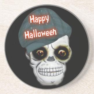 Coaster Skeleton Head Happy Halloween