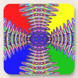 Coaster. Square. Abstract fan effect Beverage Coaster