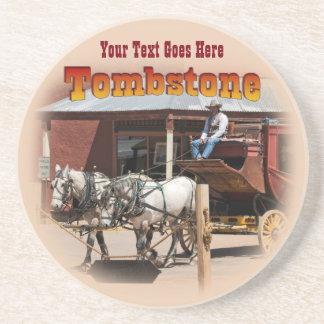 Coaster: Stagecoach Ride #1 Sandstone Coaster