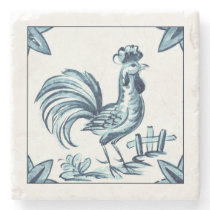 Coaster stone rooster