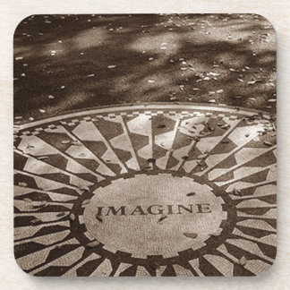 Coaster Strawberry Fields Imagine NYC Central Park