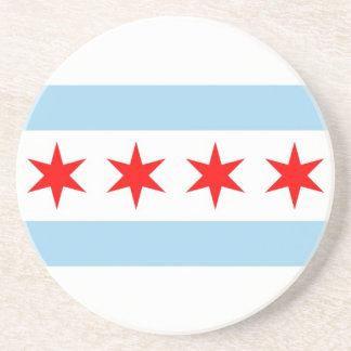 Coaster with Flag of Chicago, Illinois, USA