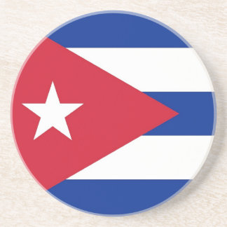 Coaster with Flag of Cuba