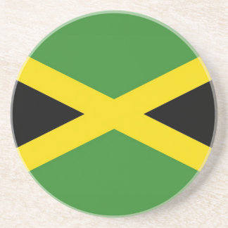 Coaster with Flag of Jamaica