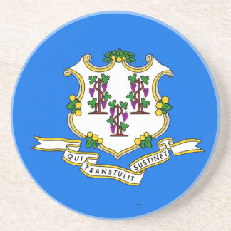 Coaster with Flag of the Connecticut, USA