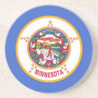 Coaster with Flag of the Minnesota, USA