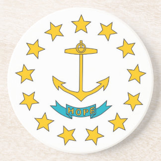 Coaster with Flag of the Rhode Island, USA