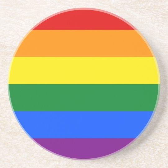 Coaster with LGBT Rainbow Flag