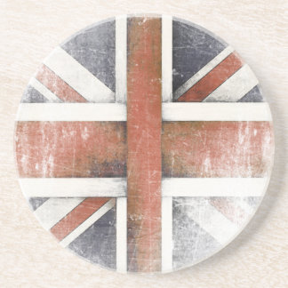 Coaster with Vintage Great Britain Flag