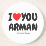 i [Love heart] you arman i [Love heart] you arman Coasters