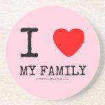 i [Love heart]  my family i [Love heart]  my family Coasters