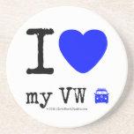 i [Love heart]  my vw [Campervan]  i [Love heart]  my vw [Campervan]  Coasters