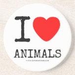 I Love Heart Animals Coasters