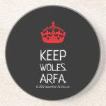 [Crown]  keep woles. arfa.  [Crown]  keep woles. arfa. Coasters
