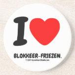 i [Love heart]  blokkeer-friezen. i [Love heart]  blokkeer-friezen. Coasters