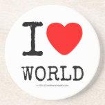 I Love Heart World Coasters