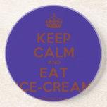 [Crown] keep calm and eat ice-cream  Coasters