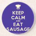 [Chef hat] keep calm and eat sausage  Coasters