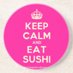 [Crown] keep calm and eat sushi  Coasters