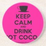 [Cup] keep calm and drink hot cocoa  Coasters
