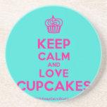 [Cupcake] keep calm and love cupcakes  Coasters