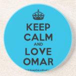 [Crown] keep calm and love omar  Coasters