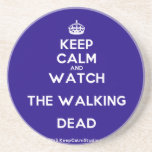[Crown] keep calm and watch the walking dead  Coasters
