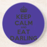 [Crown] keep calm and eat darling  Coasters