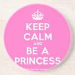 [Crown] keep calm and be a princess  Coasters