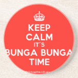 [Crown] keep calm it's bunga bunga time  Coasters