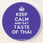 [Crown] keep calm and eat taste of thai  Coasters