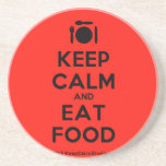 [Cutlery and plate] keep calm and eat food  Coasters