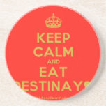 [Crown] keep calm and eat destinay♥  Coasters