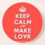 [Crown] keep calm and make lovr  Coasters