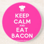 [Chef hat] keep calm and eat bacon  Coasters