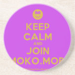 [Smile] keep calm and join moko.mobi  Coasters