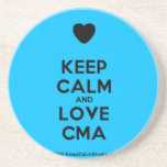[Love heart] keep calm and love cma  Coasters