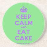 [Crown] keep calm and eat cake  Coasters