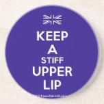 [UK Flag] keep a stiff upper lip  Coasters