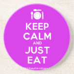 [Cutlery and plate] keep calm and just eat  Coasters
