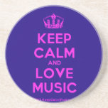 [Dancing crown] keep calm and love music  Coasters
