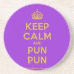 [Crown] keep calm and pun pun  Coasters
