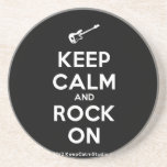 [Electric guitar] keep calm and rock on  Coasters