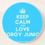 [Crown] keep calm and love coboy junior  Coasters