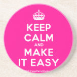 [Crown] keep calm and make it easy  Coasters