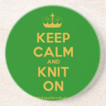 [Knitting crown] keep calm and knit on  Coasters