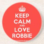 [Crown] keep calm and love robbie  Coasters