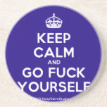 [Crown] keep calm and go fuck yourself  Coasters