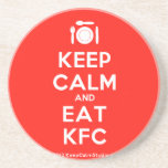 [Cutlery and plate] keep calm and eat kfc  Coasters