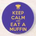 [Chef hat] keep calm and eat a muffin  Coasters